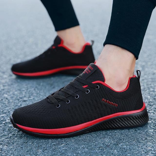 Nowy Mesh mężczyźni casual buty Lac-up Mężczyźni Buty lekki wygodny oddychający Trekking sneakers tenis feminino Zapatos
