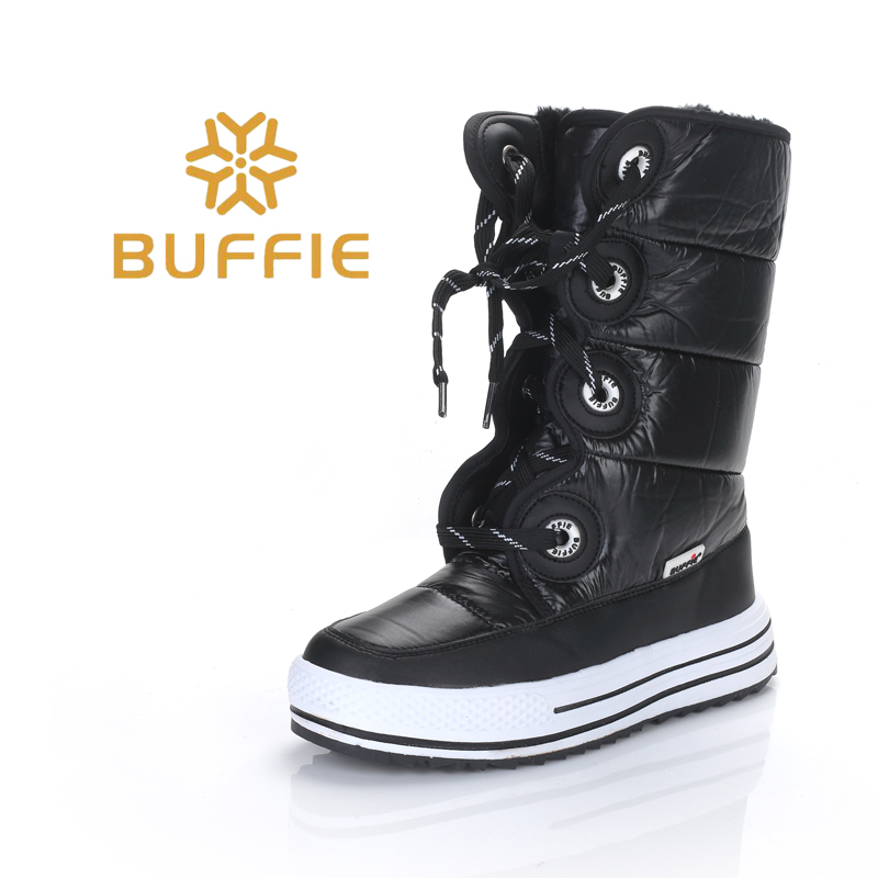 2018 New Black style Boots Women winter Boots Warm Snow boots High quality Fashion nice shape easy wearing Boots thick fur free
