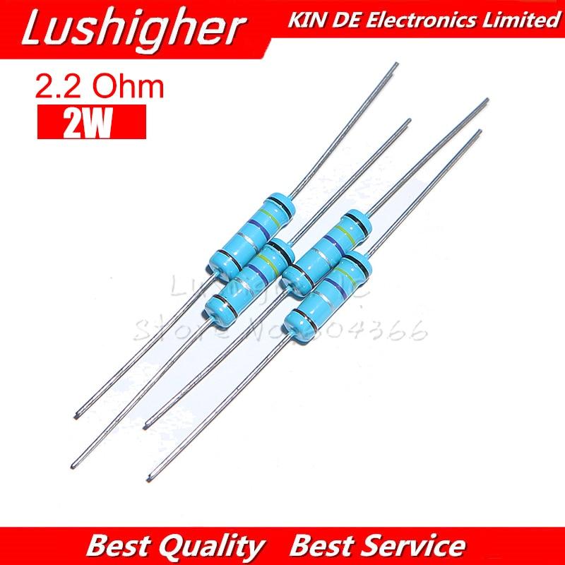 20pcs 2.2 Ohm 2W 2.2R 2R2 Metal Film Resistor 1% Error