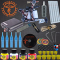 2017 Tattoo Kits 8 Wrap Coils Guns Cheap Machine Set Black Pigment Sets Needles Power Supply Beginner Tattoo Supplies Tattoo Kit