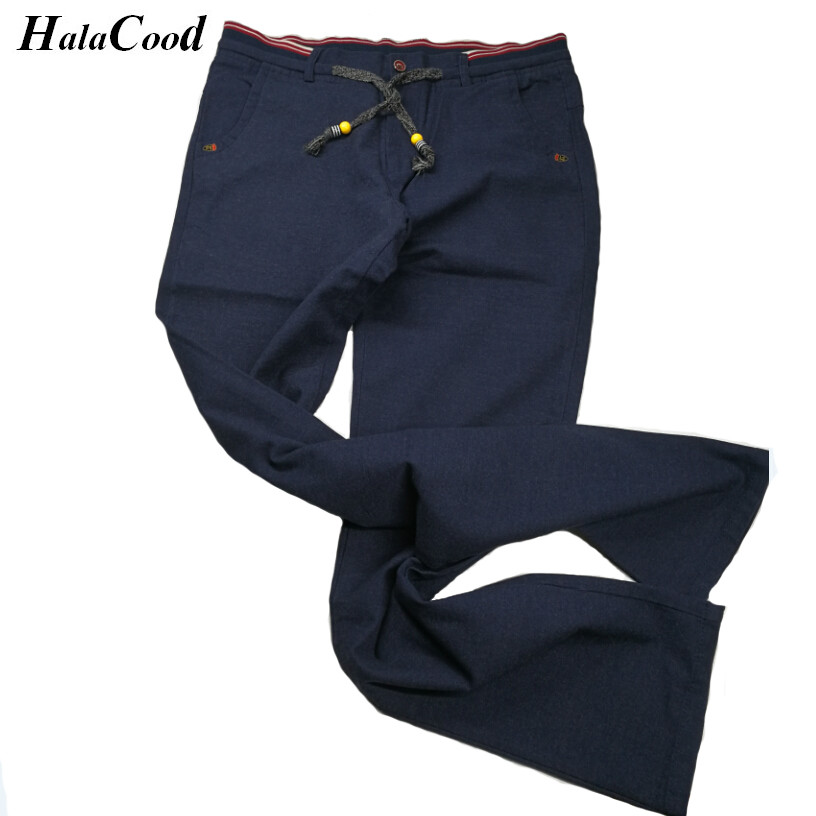 HALACOOD 2017 Spring Summer High Quality Casual Pants Men Brand Work Pants Clothing Slim Fit Cotton Formal Male Trousers Men 40