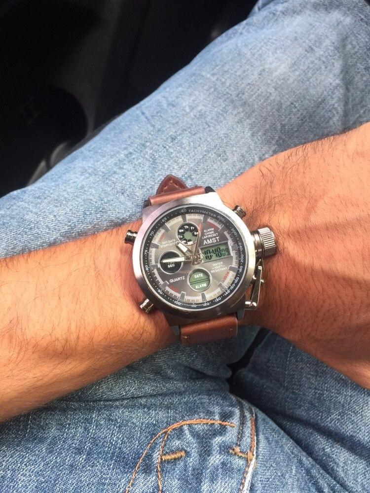 náilon & pulseira de couro led relógios