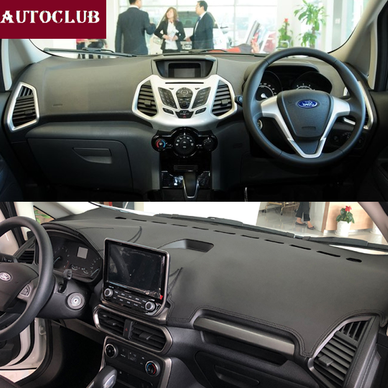 For Ford EcoSport 2012 2019 Leather Dashmat Dashboard