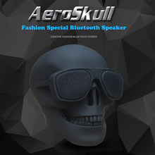 NEW Mini AeroSkull Wireless Bluetooth Speaker Portable Skull Speaker Mobile Subwoofer Multipurpose Speaker Dropshipping(China)