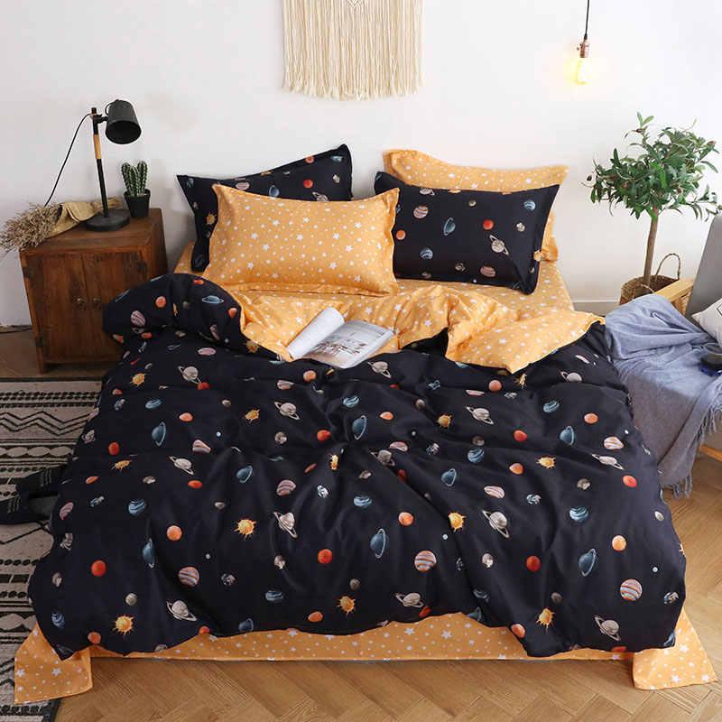 Planety 4 sztuk zestaw narzut na łóżko dla dzieci Cartoon kołdra pokrywa dla dorosłych prześcieradła dla dzieci i poszewki komfortowa pościel zestaw 2TJ-61005
