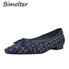 цены Bimolter Women Elegant Casual Flats Pointed Toe Butterfly-Knot Shoes Nylon & Silk Upper Material Sheepskin Inside Flat NB009