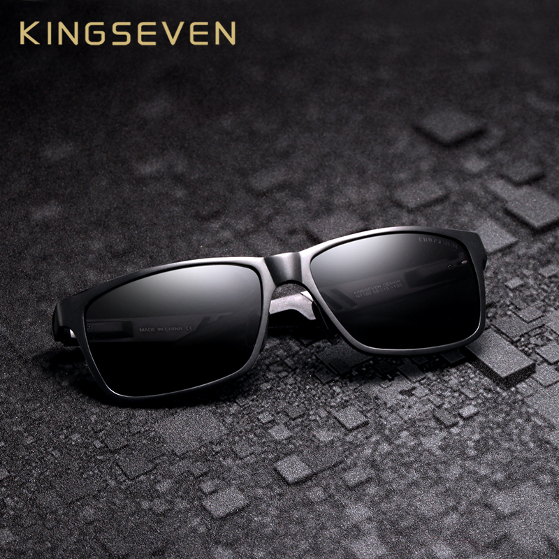 KINGSEVEN Aluminum Square Men/Women Polarized Mirror UV400 Sun Glasses Eyewear Sunglasses For Men|Men's Sunglasses| - AliExpress