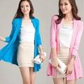 2016 Nuevo de Las Mujeres chaqueta de Punto Prendas de Punto Oversize Otoño Cardigan Poncho Suéter de las Mujeres Largas de la Rebeca Larga de Punto Cardigans Capa Femenina