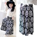 Kid Girls Floral Print Ethnic Elastic Skirts Boho A Line Long Autumn Skirts 2-6 Y