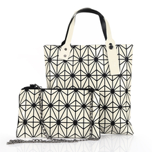 2 Sets Geometría Láser Bao Bao Bolsa de Japón de Moda de Las Mujeres monederos y Bolsos de Diseño de Alta Calidad Bolso de Mano A Cuadros Crossbody bolsa