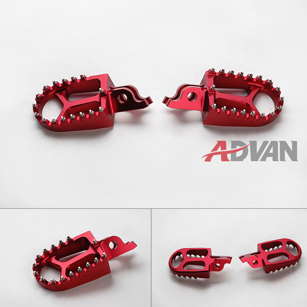 SHIPPING FREE Motorcycle Foot Pegs Rests Red Billet CNC Wide Footpegs Foot Peg Fit for FOR Honda CRF250L CRF 250L Oversize