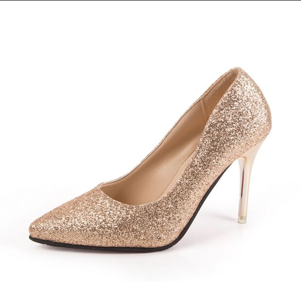 Popular Gold Sequin Heels-Buy Cheap Gold Sequin Heels lots from ...