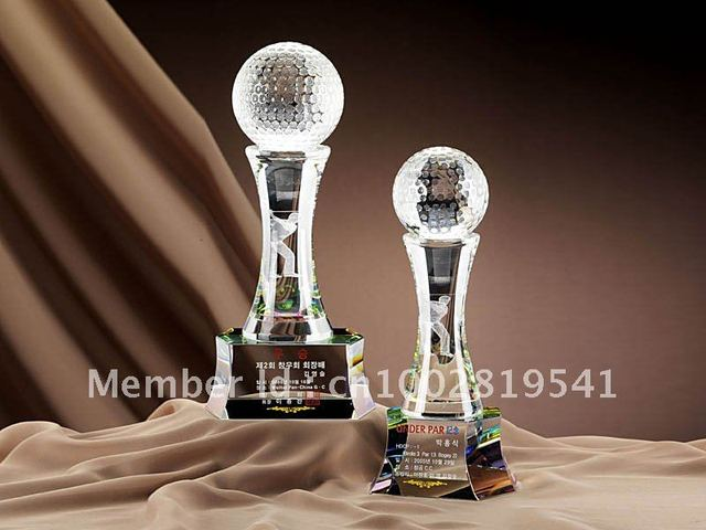 fashion crystal trophy and crystal award factory price any size any color