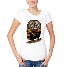 2018 New Summer Tops Owly Potter Printed T Shirt Women Asian Size Brand Clothing Fashion T-shirt Women