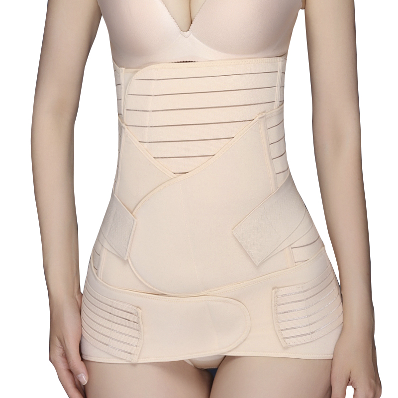 3 Pieces/Set Maternity Postpartum Bandage After Pregnancy Belt Pregnant Shapewear Corset Slimming Breathable Athletic Belt zipper shapewear corset