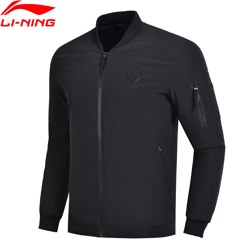 Li-Ning Men Wade Wadded Jacket Winter Warm Black Polyester-Padded Regular Fit LiNing Li Ning Sport Jackets Coats AJMN021 MWM1907