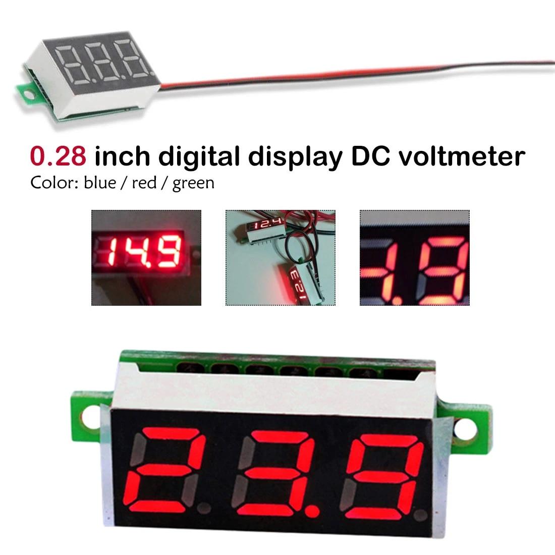 0.28 Inch DC 2.5V-30V Green LED Mini Digital Voltmeter Voltage Tester MeterHC~PL