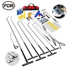 PDR Hook Tools Kit Push Rod Dent Removal Paintless Dent Repair Dent Puller Hail Damage Repair Tools Set