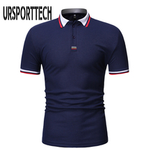 URSPORTTECH Brand Men Polo Shirt Clothes 2019 New Fashion Casual Solid Color Short Sleeve High Quality Homme