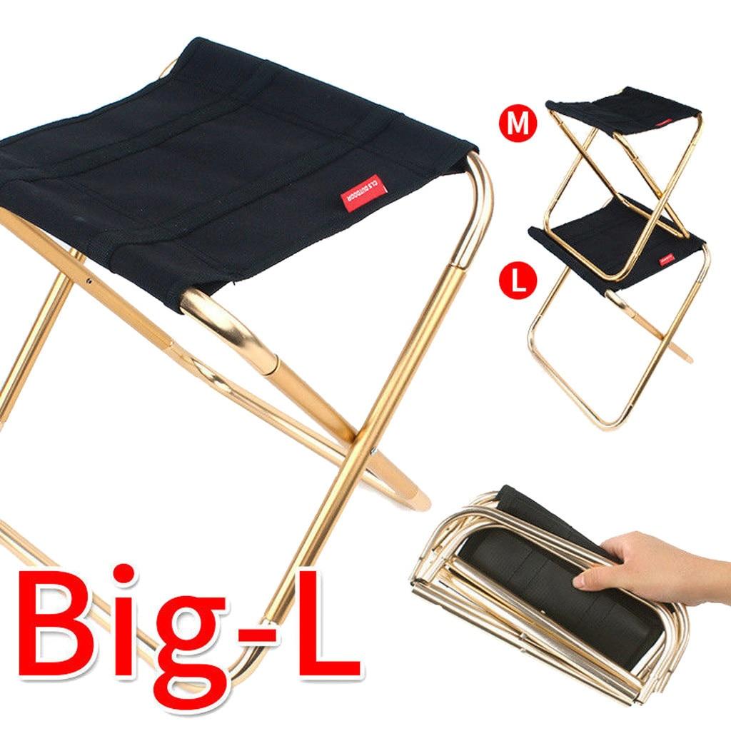 Silla plegable ultraligera de viaje superdura de alta carga de Camping al aire libre silla portátil de playa senderismo asiento de Picnic Silla de herramientas de pesca Sillas de playa    - AliExpress