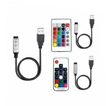 Led RGB Strip controller 5 12 24 Volt USB IR RF Remote Controller 3 17 Key LED light Wireless