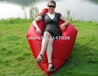 Katı kırmızı açık ve kapalı salon su geçirmez yetişkin kare büyük katlanır fasulye torbası kapağı, herhangi bir yerde beanbag yastık relax