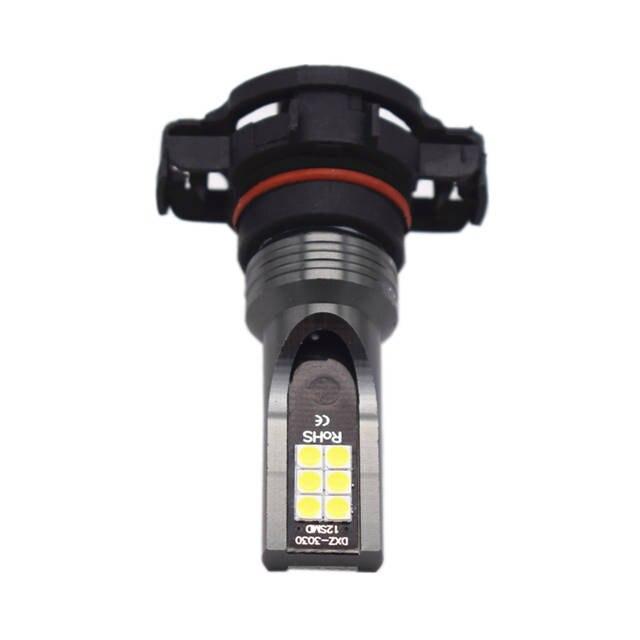 YIJINSHENG Super Bright High Power 50W H16 Type White LED Lights Bulbs for  Fog Light DRL Daytime Running Light Lamps Replacemen