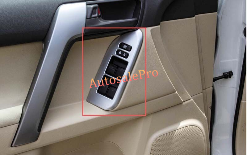 Chrome interior door cover armrest trim 4pcs For Toyota Prado Fj150 2011-2013