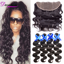 Ear to Ear Lace Frontal Closure With Bundles 4 Brazilian Virgin Hair With Closure Body Wave 13×4 Stema Hair Company Human Hair