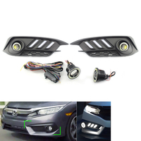 For Honda Civic 2016 2017 2018 DRL Daytime Runing Light Auto Fog Lamp with Turn Signal 2 Pcs Car Mustang Style