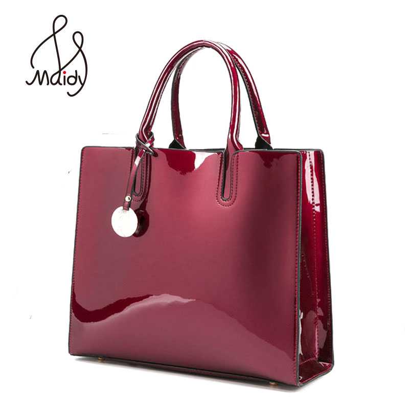 Designer Brand Famous Large Patent Leather Tote Bag Handbags Shoulder Satchel Handbag Saffiano Bags