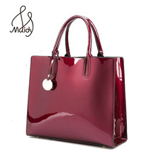 Designer Brand Famous Large Patent Leather Tote Bag
