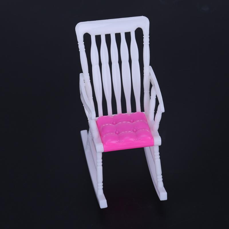 1pc Mini Doll Rocking Chair for Barbie Accessories Doll House Furniture Dollhouse Room Decoration Children Girls Toy Gift 1