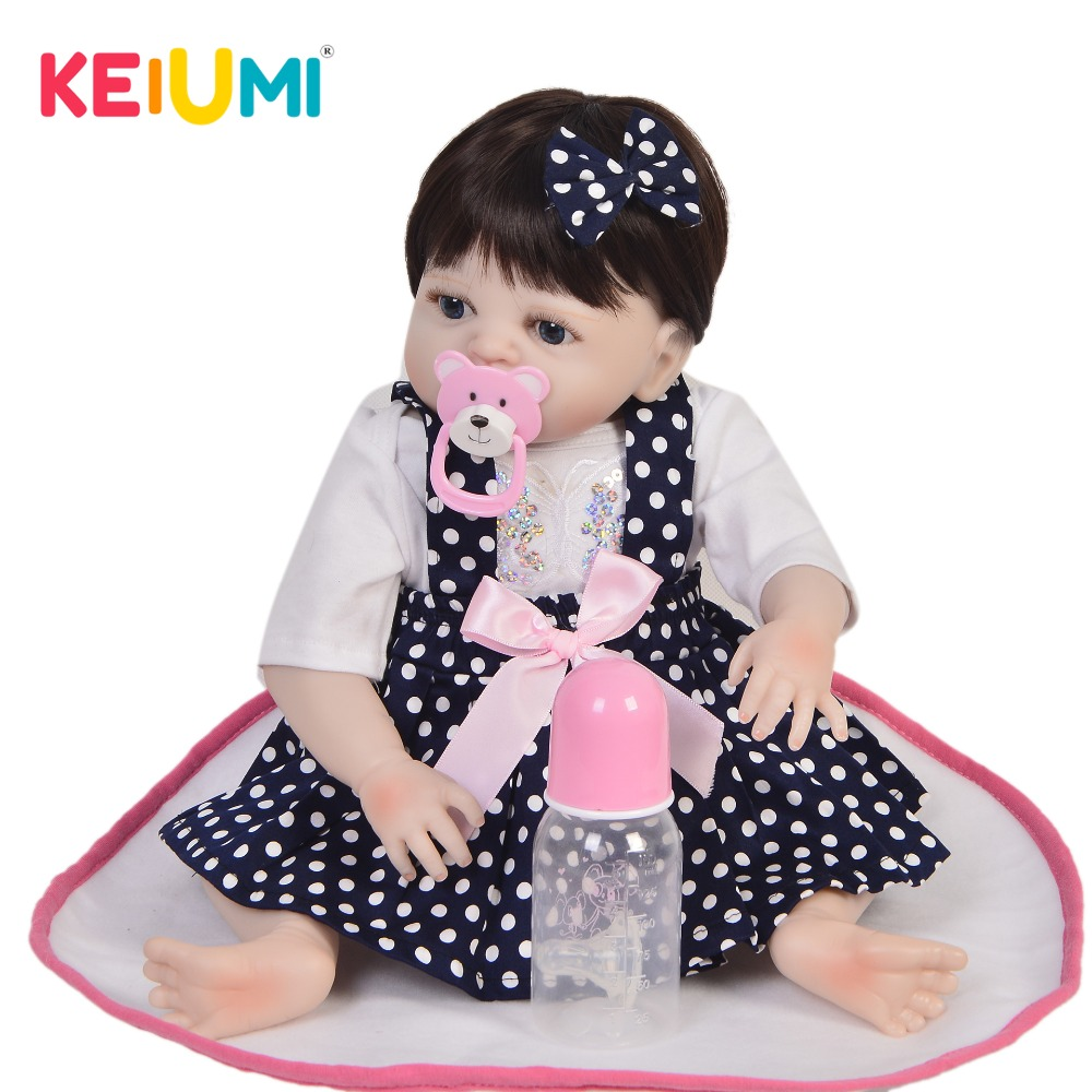 KEIUMI Limited Collection Baby Girl Doll Full Silicone Lifelike Newborn Reborn Dolls For Toddler Christmas Gifts