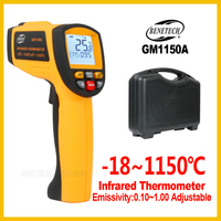 Handheld Non contact IR Infrared Thermometer Digital Surface Pyrometer Temperature Meter GM1150A BENETECH