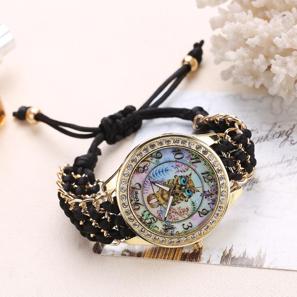 Elegant Women Watches Fashion Gold Dress Watches Owl Cartoon Children Bracelet Quartz Wristwatch Mother 39 s Gift in Women 39 s Watches from Watches