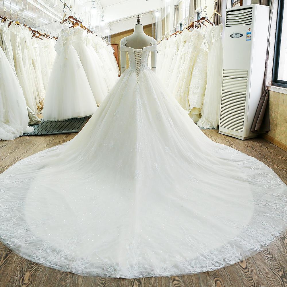 SL-130 skräddarsydd snörning klänning klänning brudklänning - Bröllopsklänningar - Foto 2