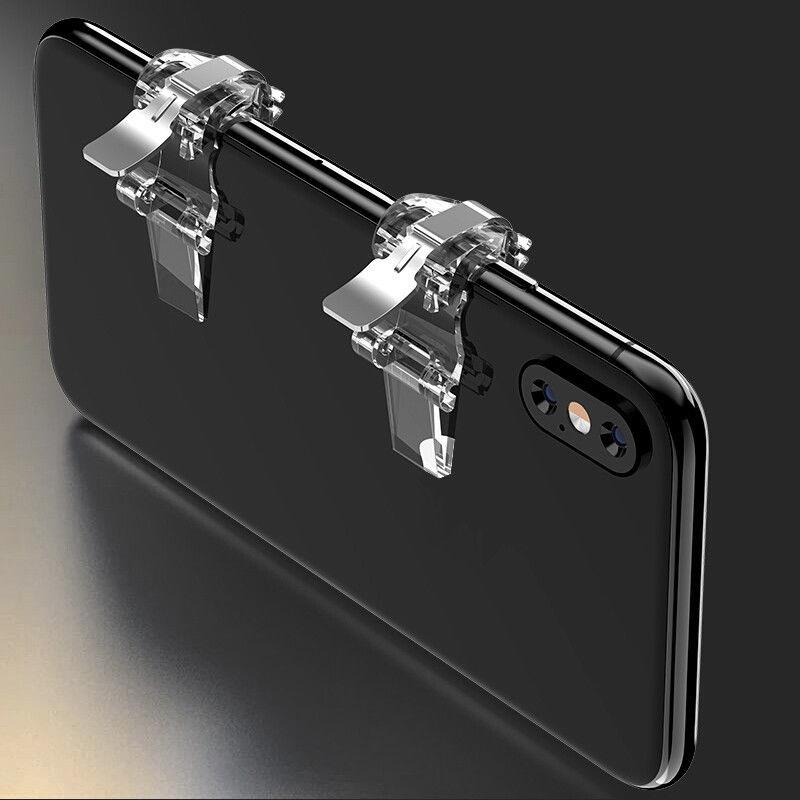 A Pair PUBG Game Shooter S4 Mobile Phone Gaming Trigger Fire Button Aim Key Game Handle L1R1 Controller For Iphone Xiaomi