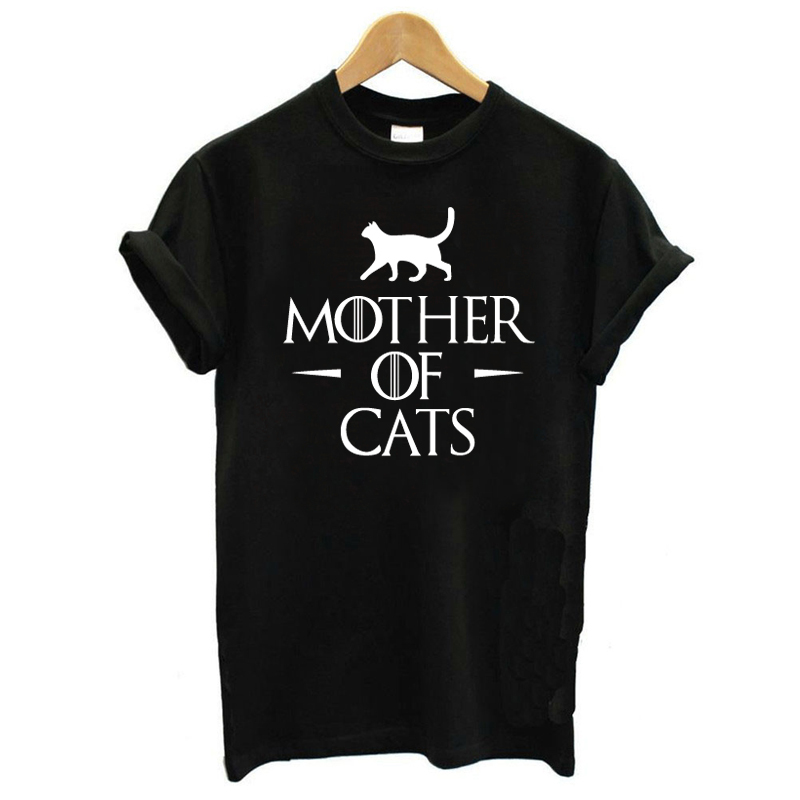 T Shirts Women Summer Letter Cat Print Tops Women Short Sleeve Female Pullover Tops Harajuku Style Black O-neck Casual T-shirt