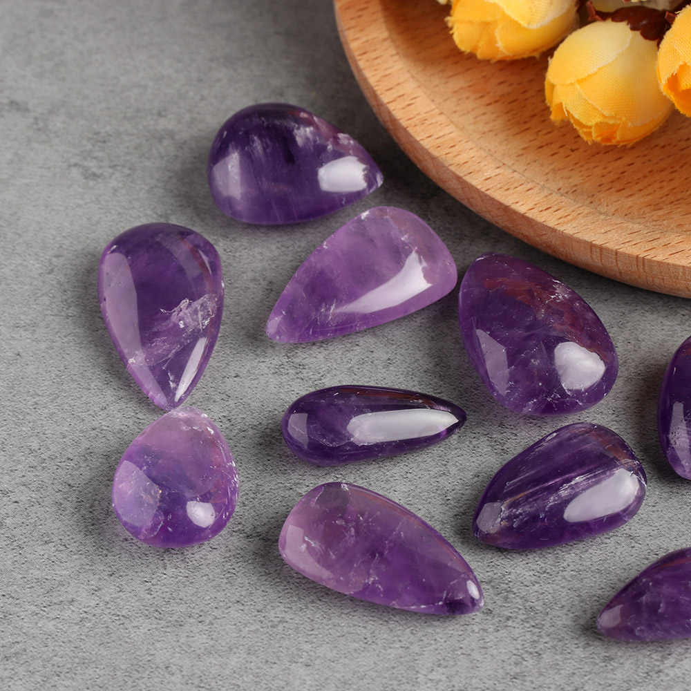 1pc Aura Natural Amethyst Quartz Crystal Rock Gemstone Drip Stone Pendant Lucky Home Decor