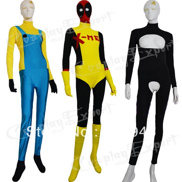 Frete Grátis DHL Atacado Adulto Fresco 3 Estilo Catsuit Spandex Lycra Zentai Halloween Costume Super Hero SH2112