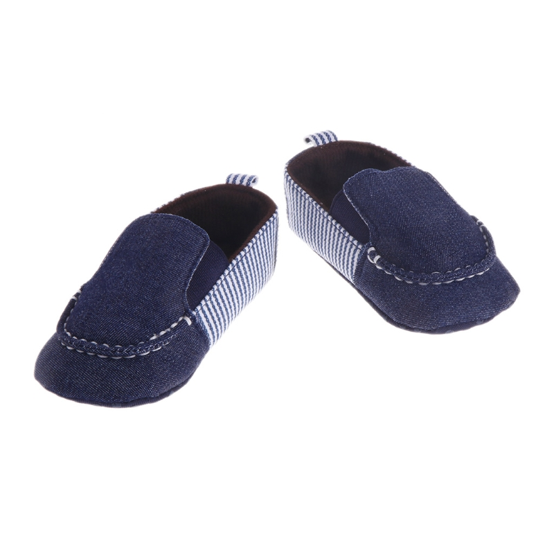 Spring Autumn Toddler Boy Girls First Walkers Infant Stripes Jaen Canvas Anti-slip Sole Crib Baby Shoes-m15