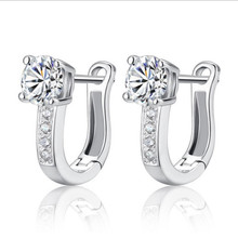 Everoyal Top Quality 925 Sterling Silver Earrings For Women Jewelry Trendy Zircon Round Hoop Female Accessories Girls