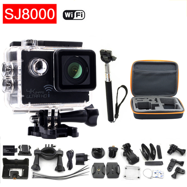 "gopro hero 4 style 4K Action camera Wifi Novatek 96660 Waterproof Helmet Diving Mini cam HD 2.0"" LCD Extreme Mini Sport camera"