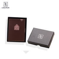 2018 Wallet Men Leather Genuine Cowhide Leather Big Capacity Short Purse brown mini money clip Magic Wallets With Card ID Case