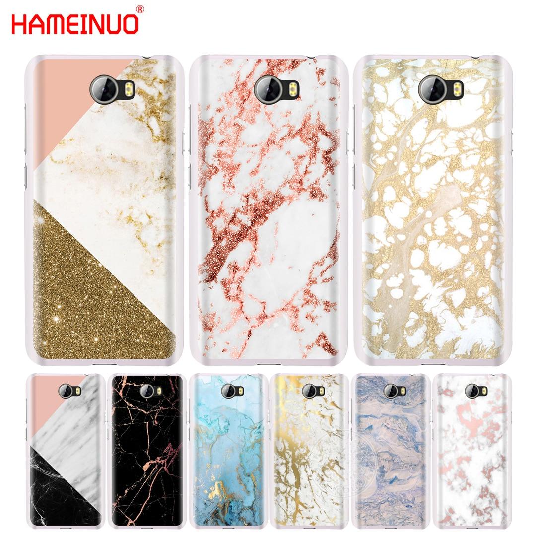 Hongjiang золото Мраморный сотовый телефон чехол для Huawei Honor 5A LYO-L21 5.0 дюймов 6A 6C 6x9 Nova plus Lite Y3 II 2