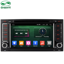 GreenYi Quad Core RAM 2GB ROM 16GB Android 6.0 Car DVD Stereo Video Player for VW Touareg T5 Multivan Transporter 2004-2011