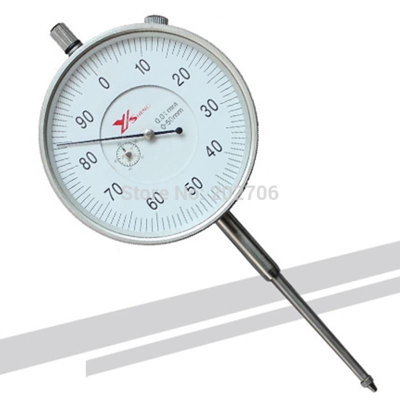 High quality large range 0 50mm Dial indicator dial gauge indicator 0 01mm