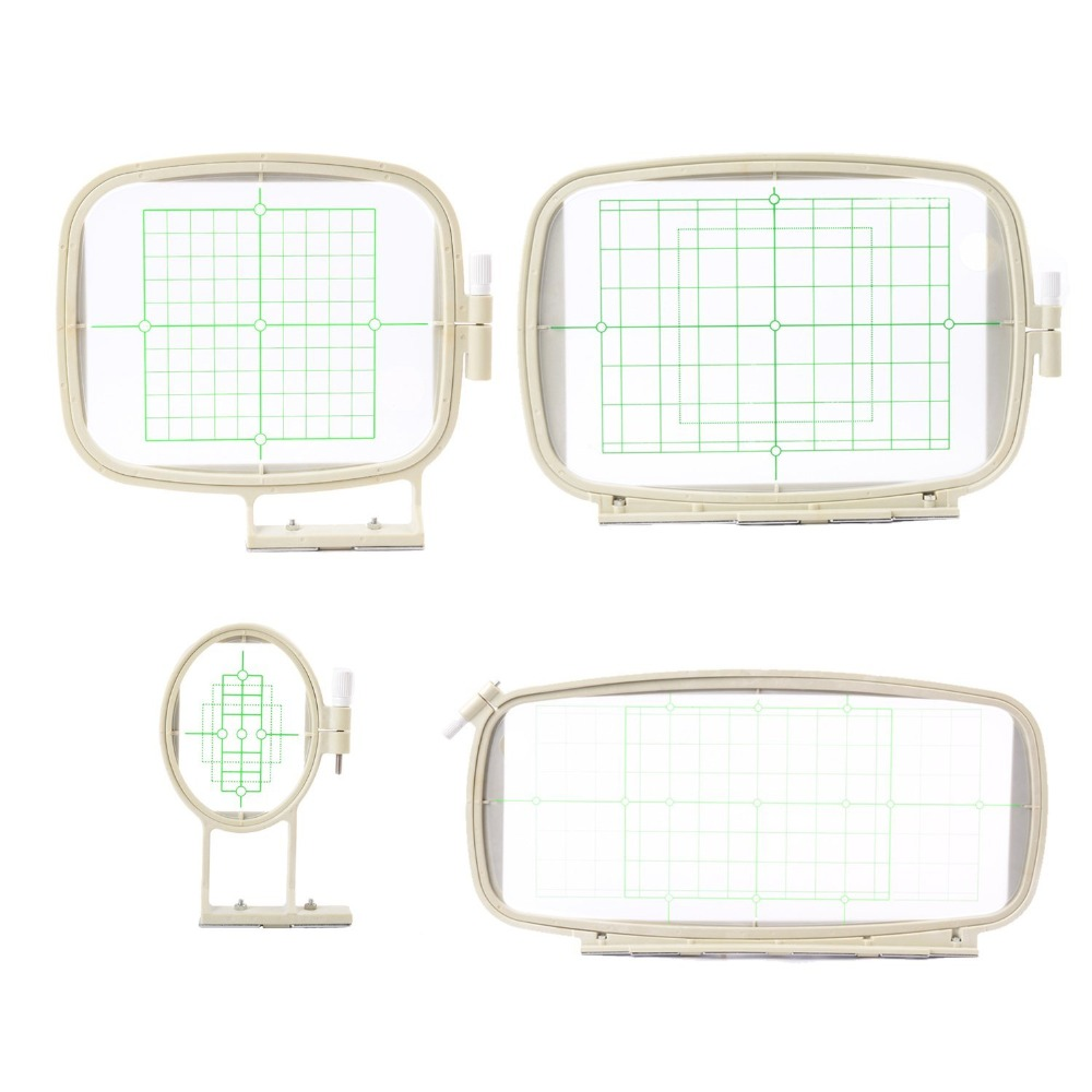 4 In 1 Embroidery machine hoops set For Brother PE-700 PE-700II PE-750D 780D Innovis 1000 1200 1250D PC-6500 PC-8200 PC-8500 тенты зонты weiju 1200 pc