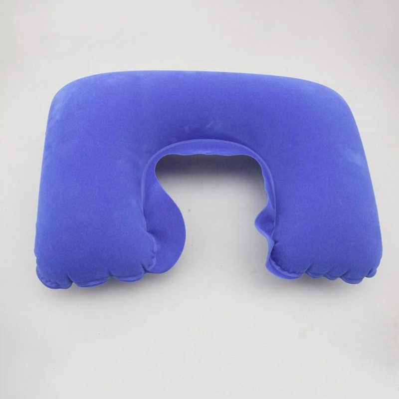 Inflatable U Shaped Travel หมอนคอรถเบาะอากาศสำหรับเดินทาง Camping Head Rest Air Cushion หมอนคอ
